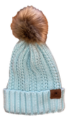 A3 Women's Pom Knit Beanie - Ice