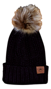 A3 Women's Pom Knit Beanie - Black