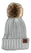 A3 Women's Pom Knit Beanie - Grey