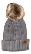 A3 Women's Pom Knit Beanie - Charcoal