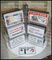 "450 ""Quilty Sayings"" Magnets and spinner rack - 18 different designs - WHOLESALE ITEM"