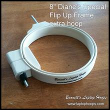 "8"" hoop fits the Diane's Special Flip Up Frame."