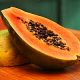 A mixture of sweet mango, papaya and cool citrus fruits.
