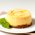 "Chuckanut Bay Foods 3"" - 4oz Mango Swirl Cheesecake"