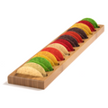 Mini Taco Shell Bamboo 12-Spot Board