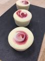 Junior's Cheesecake - Little Fellas, 4oz., Raspberry Swirl