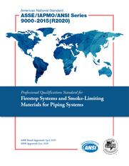 ASSE/IAPMO/ANSI Series 9000-2015(R2020)