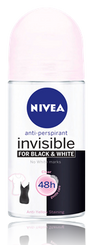NIVEA Black & White Clear Roll-On (50ml)