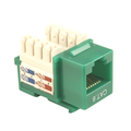 CAT-6 Keystone Jack, 90-Degree, Green