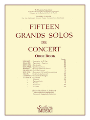Fifteen Grands Solos de Concert for Oboe, Solo Oboe Part
