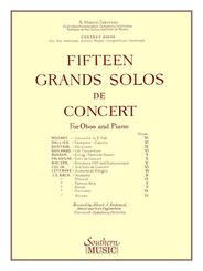 Fifteen Grands Solos de Concert for Oboe, Piano Accompaniment  Part