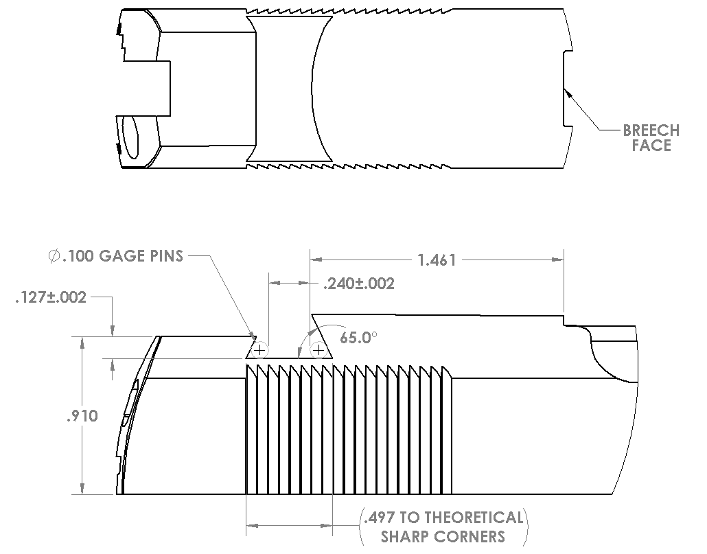 This image includes the dimensions for the Novak LoMount slide dovetail.