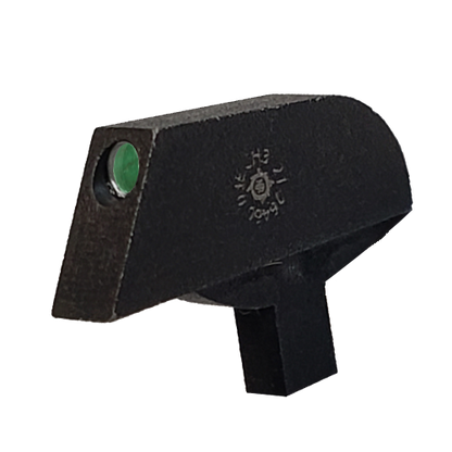 """Stake-on Ramp front sight for Springfield Armory Mil-Spec 1911, 0.080"""" tenon, green tritium insert no white outline"""