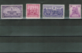 United States 1938 Commemorative Year Set, Scott Cat. Nos.  0835 - 0838, MNH