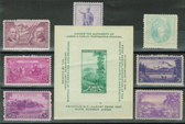 United States 1937 Commemorative Year Set, Scott Cat. Nos.  0795 - 0802, MNH