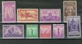 United States 1940 Commemorative Year Set, Scott Cat. Nos.  0894 - 0902, MNH