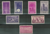 United States 1939 Commemorative Year Set, Scott Cat. Nos.  0852 - 0858, MNH