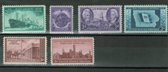 United States 1946 Commemorative Year Set, Scott Cat. Nos.  0939 - 0944, MNH