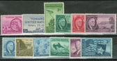 United States 1945 Commemorative Year Set, Scott Cat. Nos.  0927 - 0938, MNH