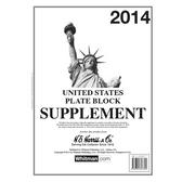 2014 H. E. Harris U.S. Plate Block Album Supplement