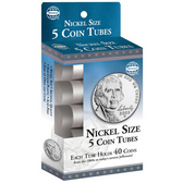 Whitman/H.E. Harris Nickel Coin Tubes (5 Count)