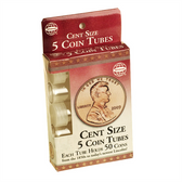 Whitman/H.E. Harris Cent Coin Tubes (5 Count)