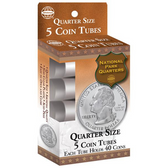 Whitman Quarter Coin Tubes (5 Count)