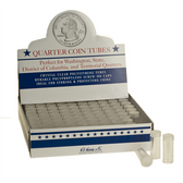 Whitman/H. E. Harris Box of Quarter Coin Tubes (100 Count)