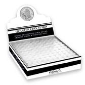 Whitman/H. E. Harris Box of Quarter Polypropylene Coin Tubes (100 Count)