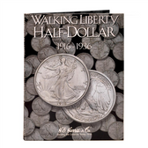 H. E. Harris Liberty Walking  Half Dollar Coin Folder (1916 - 1936)