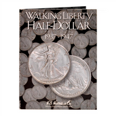 H. E. Harris Liberty Walking  Half Dollar Coin Folder (1937 - 1947)