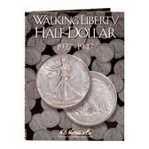 H. E. Harris Liberty Walking  Half Dollar Coin Folder (1937 - 1947)