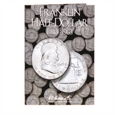 H. E. Harris Franklin  Half Dollar Coin Folder (1948 - 1963)