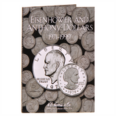H. E. Harris Eisenhower-Anthony Dollar Coin Folder (1971 - 1999)