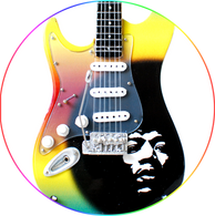 Jimi Hendrix Special Edition Self portrait Guitar Miniature