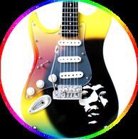 Jimi Hendrix Special Edition Self portrait Guitar Miniature