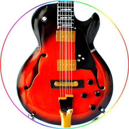 George Benson Guitar Miniature sunburst GB10