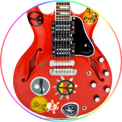 Alvin Lee Guitar Ten Years After Miniature