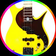 Victor Wooten Ying Yang Bass Miniature Guitar Collectible