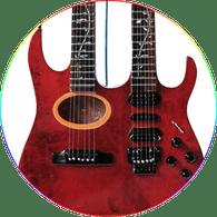 Steve Vai Miniature Guitar Replica Collectible Ibanez Acoustic Electric Double Necks Custom