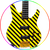 Tim Gaines STRYPER Headless Bass Miniature Guitar Replica Collectible