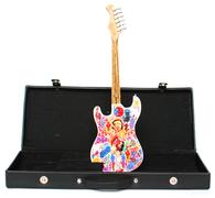 Jimi Hendrix Art Guitar Miniature with Case