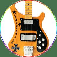 Lemmy Motorhead Miniature Guitar Collectible Natural Wood Rick Bass Born to lose