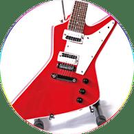 Sammy Hagar Miniature Guitar Replica Collectible RED ROCKER Xpl Signature