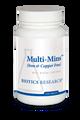 """BIOTICS  ---  """"MULTI-MINS™ ( IRON & COPPER FREE) ---  Broad Spectrum Multi-Mineral - 120 Tabs"""