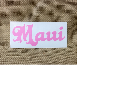 Maui Curly Hawaii Decal 473