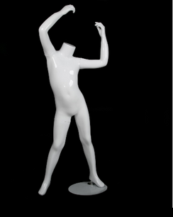 "Gloss White Fiberglass Headless Child Mannequin 39"" MM-A1-7W"