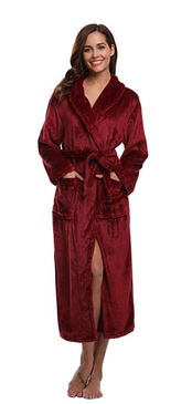 Free Shipping Christmas Robes - Luxurious Plush Women's Robes - Color Plum