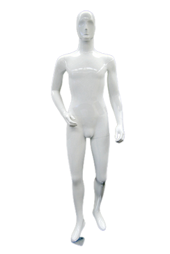 Richard, Gloss White Abstract Egg Head Male Mannequin with face features MM-XDM04