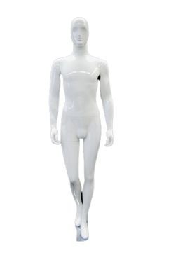 Roger, Gloss White Abstract Egg Head Male Mannequin with face features MM-XDM05